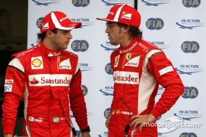 Felipe Massa, Scuderia Ferrari and Fernando Alonso, Scuderia Ferrari 