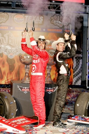 Dario Franchitti, Target Chip Ganassi Racing and Will Power, Team Penske