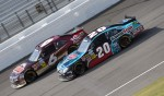 Ricky Stenhouse Jr., Roush-Fenway Ford and Joey Logano, Joe Gibbs Racing Toyota 