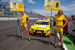 Grid girls for Mike Rockenfeller, Audi Sport Team Abt and Tom Kristensen, Audi Sport Team Abt Sportsline