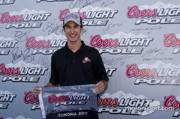 Pole winner Joey Logano, Joe Gibbs Racing Toyota