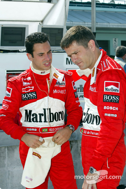 Helio Castroneves and Gil de Ferran