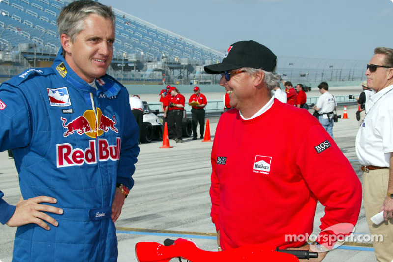 Eddie Cheever and Rick Mears