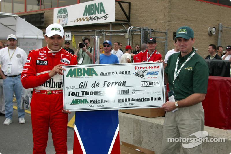 Pole winner Gil de Ferran