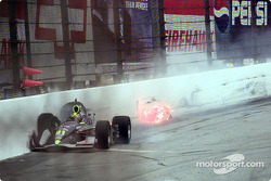 Buddy Lazier turn 3 accident