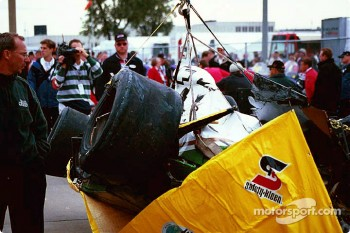 Paul Tracy's damaged car