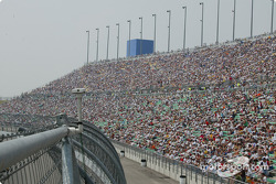 Kansas spectators taking their seats before the race