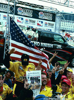 Sam Hornish Jr. celebrates