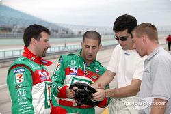 Michael Andretti, Tony Kanaan and Dario Franchitti