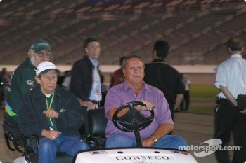 A.J. Foyt watches A.J. Foyt IV