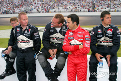 Helio Castroneves with the team