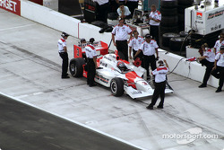 Helio Castroneves and crew