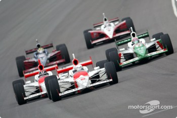 Gil de Ferran, Helio Castroneves and Tony Kanaan