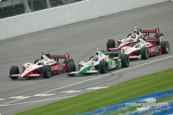 Tomas Scheckter, Tony Kanaan, Scott Dixon and Al Unser Jr.