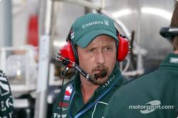 A.J. Foyt Racing crew member