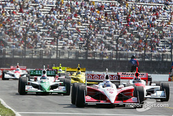 Scott Dixon leads the field on pitlane