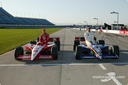 Front row for the Delphi Indy 300 : pole winner Richie Hearn with Tomas Scheckter