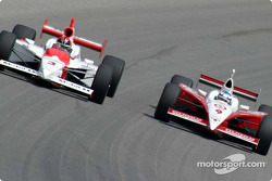 Helio Castroneves and Scott Dixon