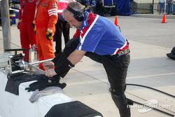 Access Motorsports crew member
