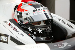 Sam Hornish Jr. is sporting a new paint scheme for his helmet