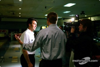 Sam Hornish Jr. at PBA Pro-Am in Indianapolis: media interview