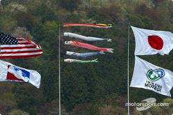 Flags before the race
