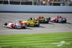 Sam Hornish Jr., Tomas Scheckter, Bryan Herta and Dan Wheldon