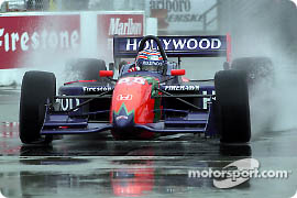 Tony Kanaan in the rain