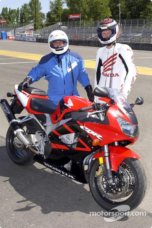Having fun with a Honda CBR
