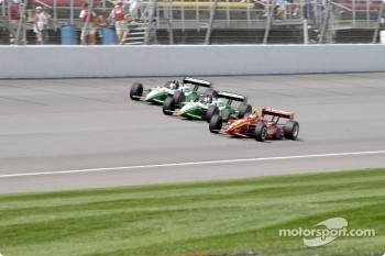 Memo Gidley, Dario Franchitti and Paul Tracy