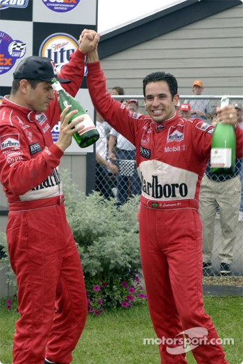 Gil de Ferran and Helio Castroneves
