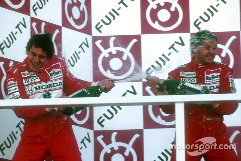 Senna feiert seinen 3. WM-Titel, Berger seinen 1. Sieg als McLaren-Fahrer