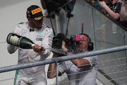 1st place Lewis Hamilton, Mercedes Petronas AMG F1