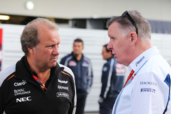 (L to R): Robert Fernley, Sahara Force India F1 Team Deputy Team Principal with Mike O'Driscoll, Williams Group CEO
