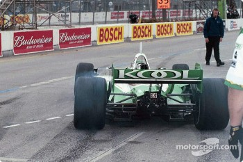 Paul Tracy leaving pit