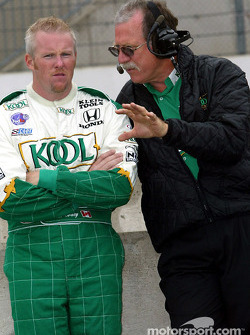 Paul Tracy and race consultant John Anderson