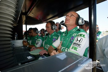 Team KOOL Green pitwall