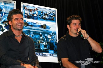 Team Player's press conference on Tuesday: Alex Tagliani and Patrick Carpentier