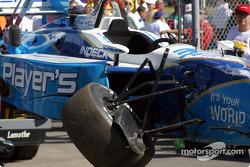 Alex Tagliani's wrecked car