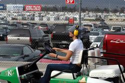 Ashley Judd rides the TKG truck