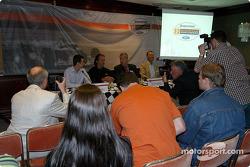 German 500 press conference: Tiago Monteiro, Emerson Fittipaldi and David Clare