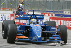 Alex Tagliani in trouble on pitlane