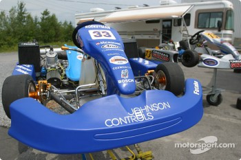 Rocketsports-Tagliani karting event: Alex Tagliani's custom-built 250 cc CRG-TM twin engine 88 hp kart