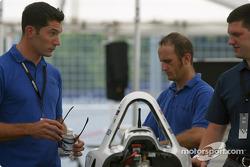 Max Papis in PK Racing paddock area