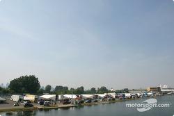 A view of paddock area at Circuit Gilles-Villeneuve