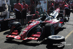 Jimmy Vasser watches his car being prepared
