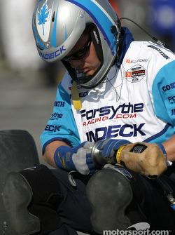 Forsythe Championship Racing crew member