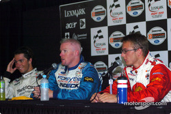 Press conference: pole winner Paul Tracy with Sébastien Bourdais and Bruno Junqueira