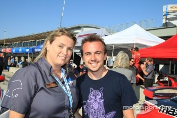 Johanna from Laguna Seca with Frankie Muniz