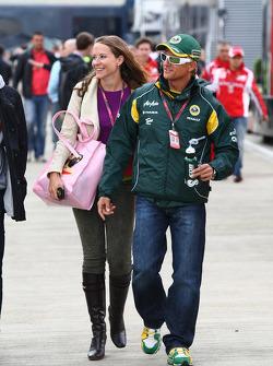 Catherine Hyde, girlfriend of Heikki Kovalainen and Heikki Kovalainen